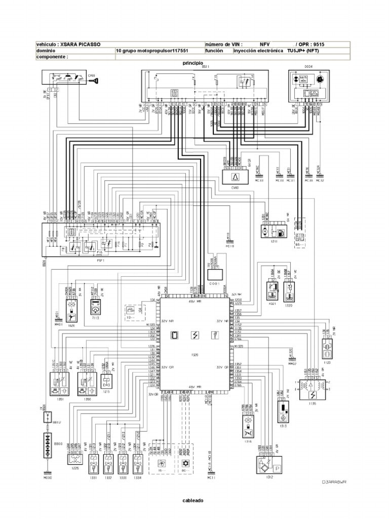 Citroen Bsi Wiring Diagram C3 Xsara Picasso Esquema Electrico Gestion Motor Nfv Opr 9515 Led Circuit Diagrams